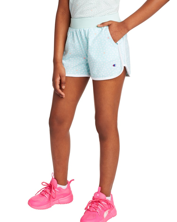 French Terry Shorts, Polka Dot Print