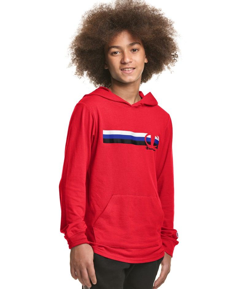 Jersey Hoodie, Multi Stripe C Logo