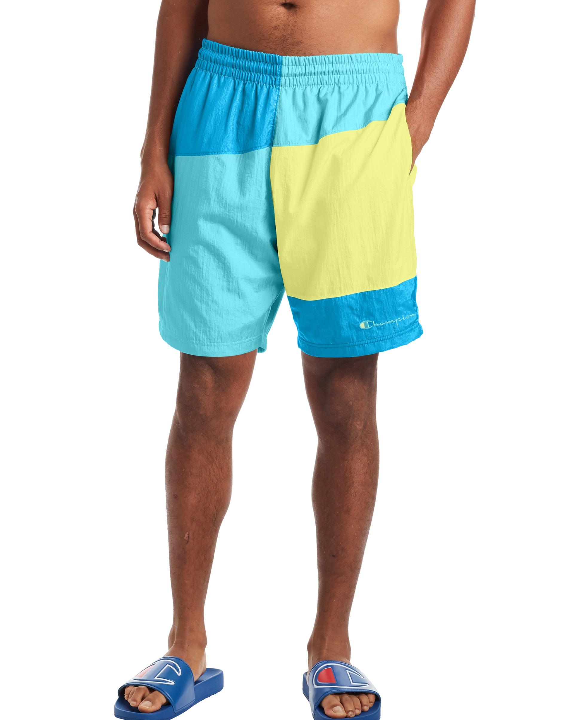 Champion Mens Colorblock Crinkle Nylon Short