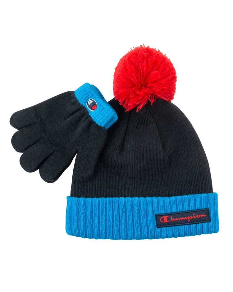 Celsius Pom Beanie and Glove Set