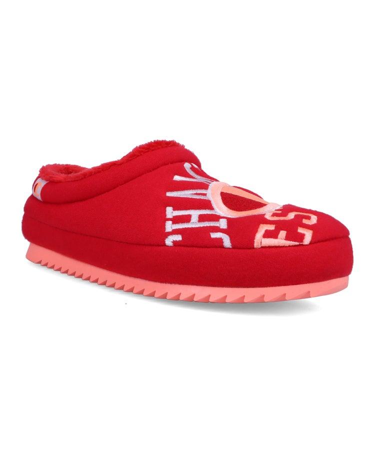 Shuffle Reverse Weave Jersey Slippers, Scarlet
