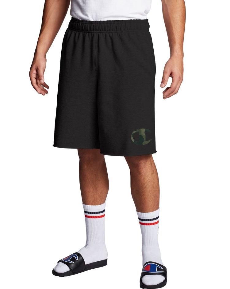 Powerblend Fleece Shorts, Camo C Logo