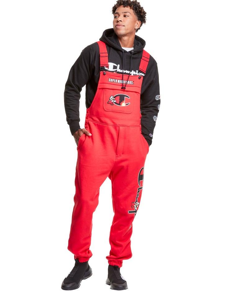 Champion® Super Fleece 3.0 Overalls, Fire Mario