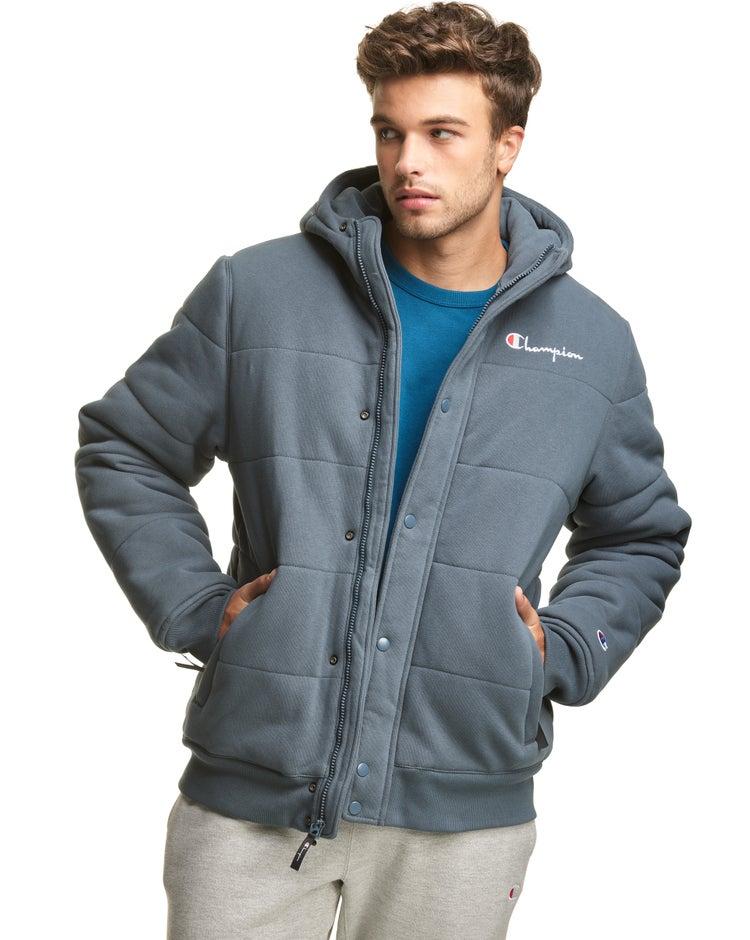 Reverse Weave Puffer Jacket