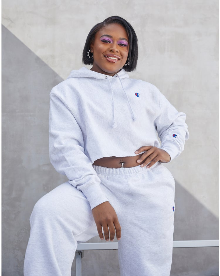 Reverse Weave Cropped Cut Off Hood- Fit, C Logo