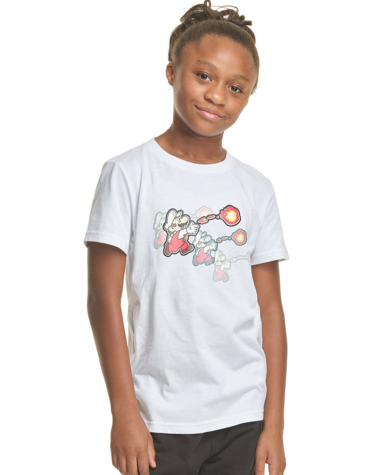 Kids' Heritage Tee, Mario Graphics Front & Back