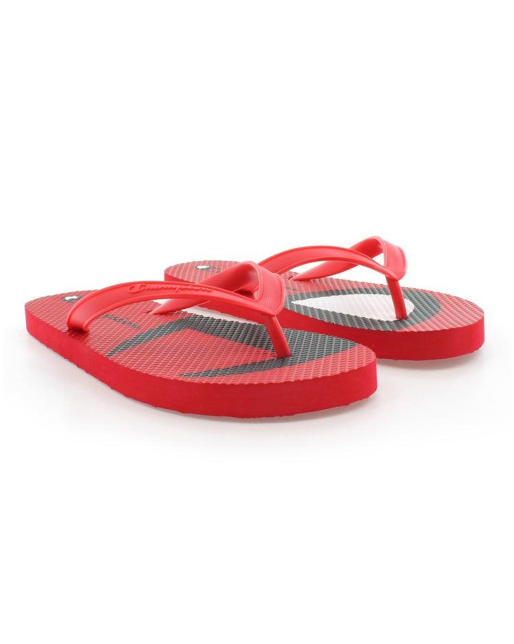 Champion Life™ Men's Flip Flops Split C Logo, Scarlet