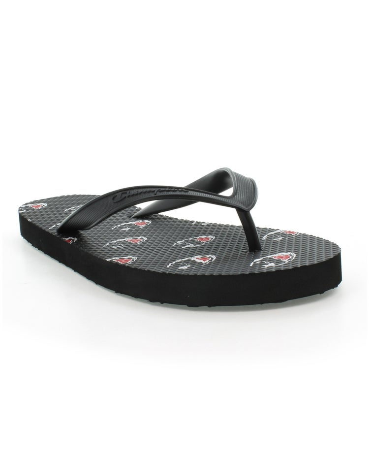 Flip Flops Allover C Logo, Black