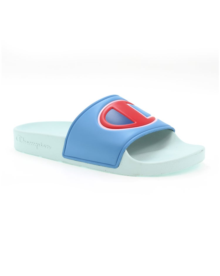 Champion Life™  Women's IPO Colorblock Slides, Active Blue Multi