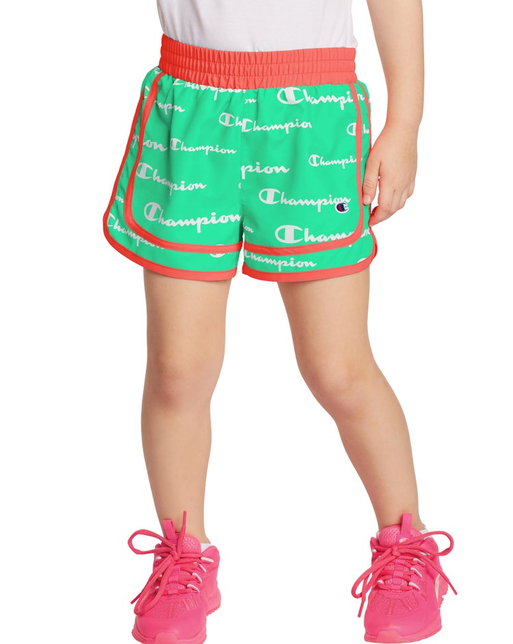 Varsity Woven Shorts, All Over Logo