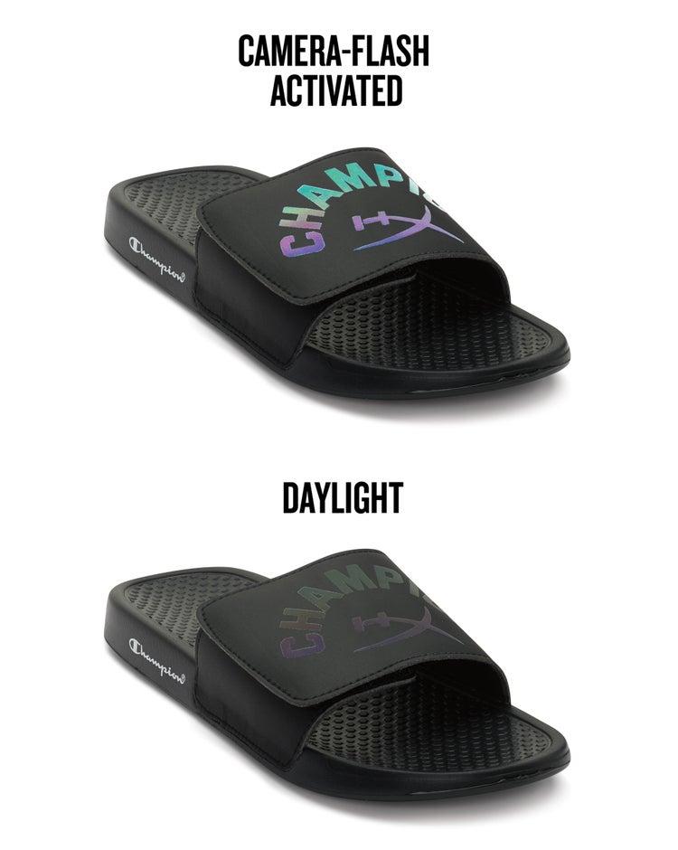 Exclusive HyperX x Champion Slides, Iridescent Logos