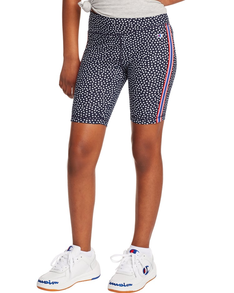 Bike Shorts, Polka Dot Print