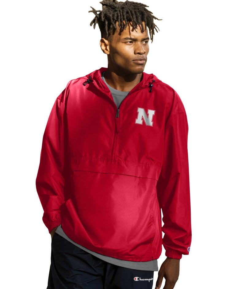 Collegiate Packable Jacket, Nebraska Cornhuskers