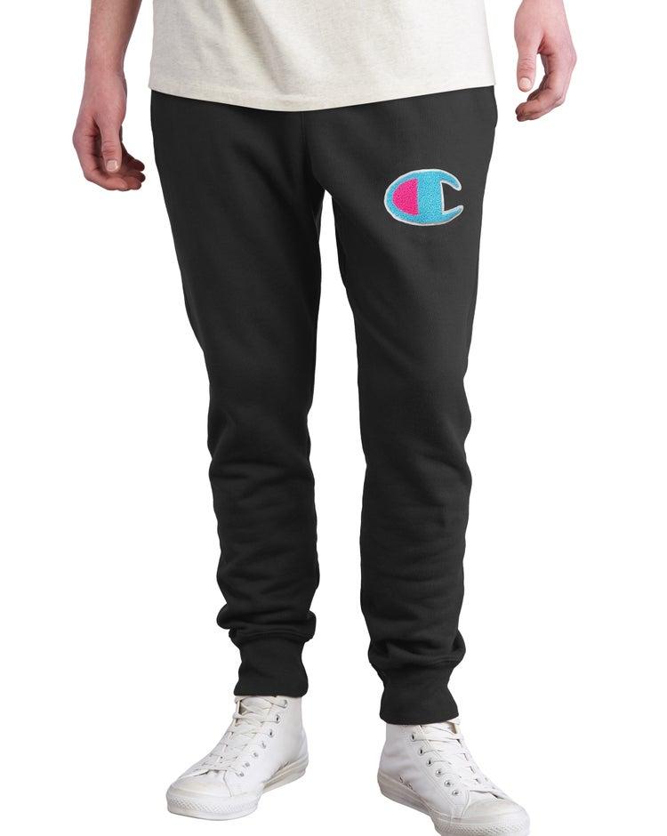 Reverse Weave Joggers, Chenille C Logo