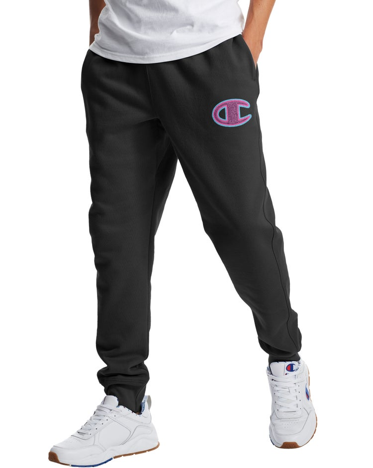 Reverse Weave Joggers, Chainstitch C Logo