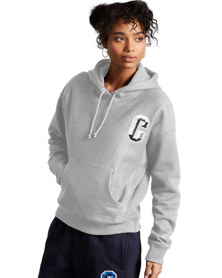Reverse Weave Pullover Hoodie, Floss Stitch C Logo