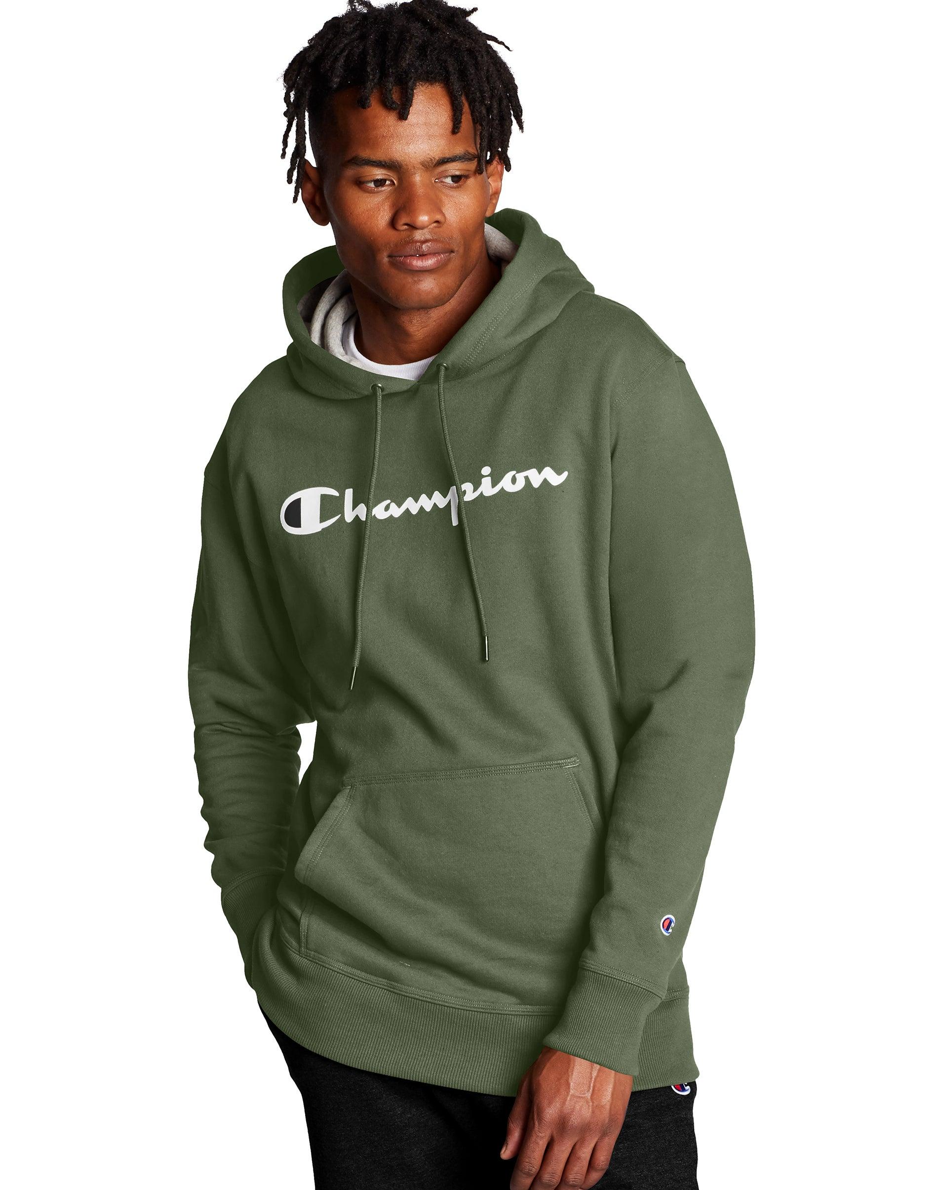 Champion men hoodie zip sweatshirt long sleeves 2 pockets open