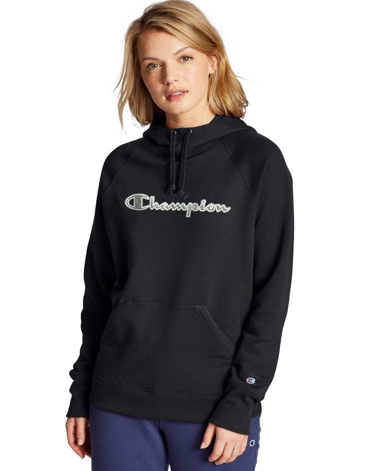 Powerblend Fleece Pullover Hoodie, Chainstitch Logo