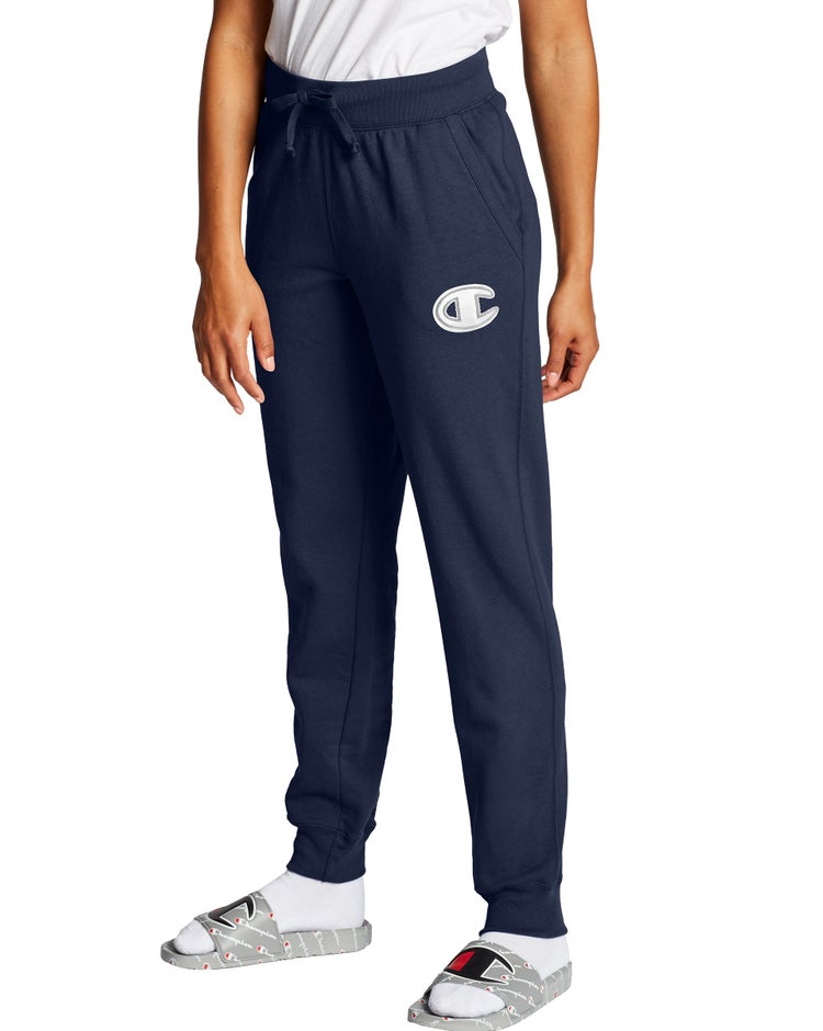 Powerblend Fleece Joggers, Chainstitch C Logo