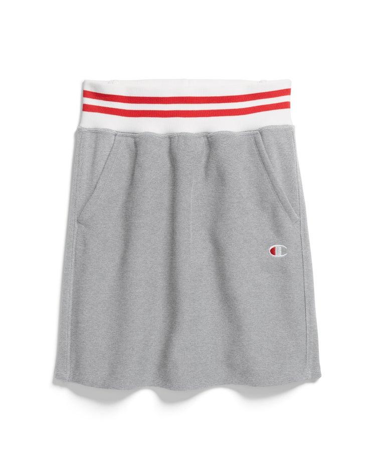 Reverse Weave Yarn Dye Stripe Skirt
