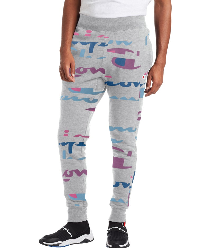 Reverse Weave Joggers, All Over Logo