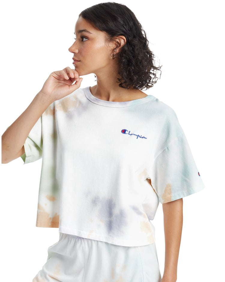 Heritage Cropped Tee, Cloud Dye