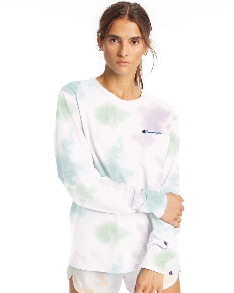 Boyfriend Long-Sleeve Tee, Cloud Dye