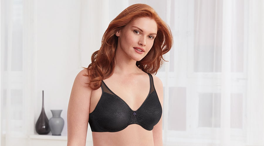 Minimizer bra with soft cushioned shoulder straps